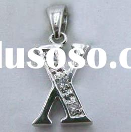 Metal Initial letter charm