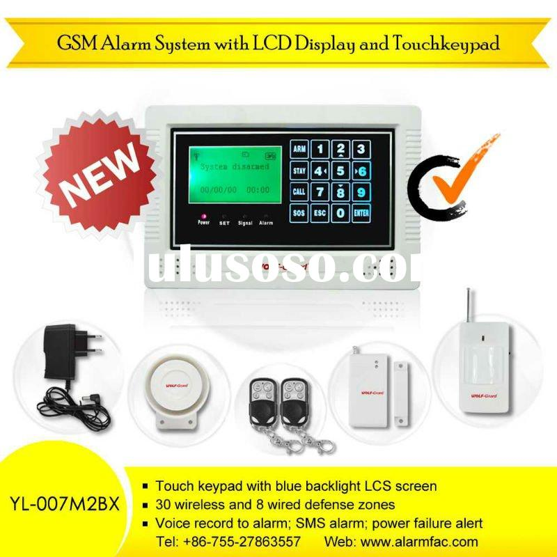 Network banking system backup gsm alarm honeywell security with touch keypad rc YL-007M2BX