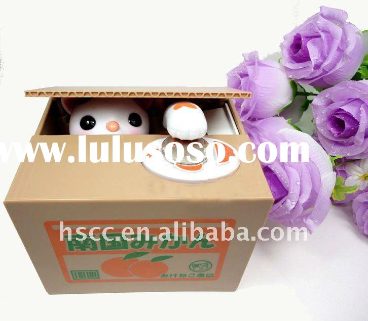 Personalized Cat Stealing Money Saving Box