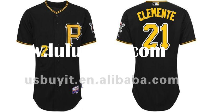 Pittsburgh Pirates Baseball jerseys #21 Roberto Clemente Black Authentic jersey Drop Shipping Mix Or