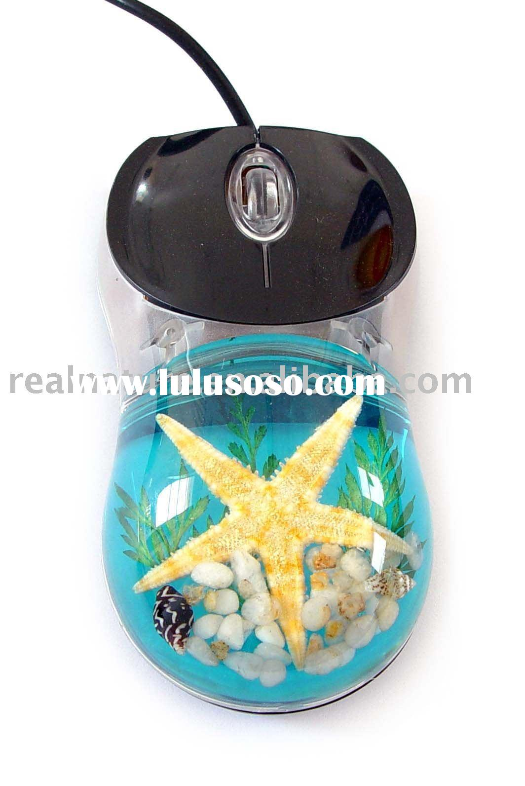 Promotion gift--novel real sea life amber computer mouse