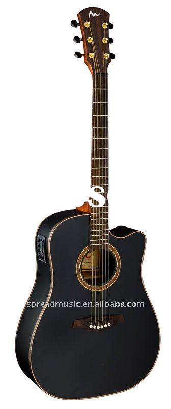 SW series high grade acoustic guitar SW-124TC2/BKM
