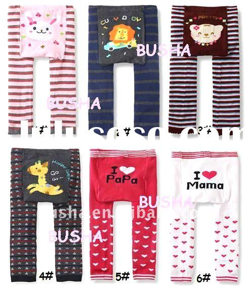 Spring&Autumn fashion animal designs leggings for baby