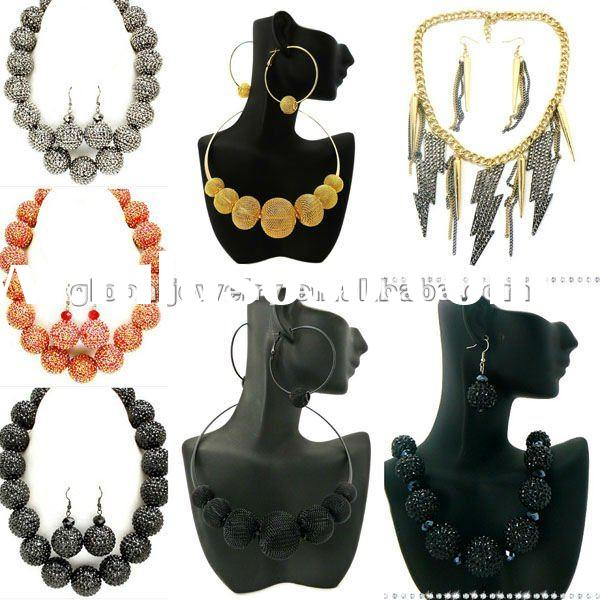 Stunning & unusual shamballa necklace wholesale crystals bamboo earrings bamboo hoop earrings