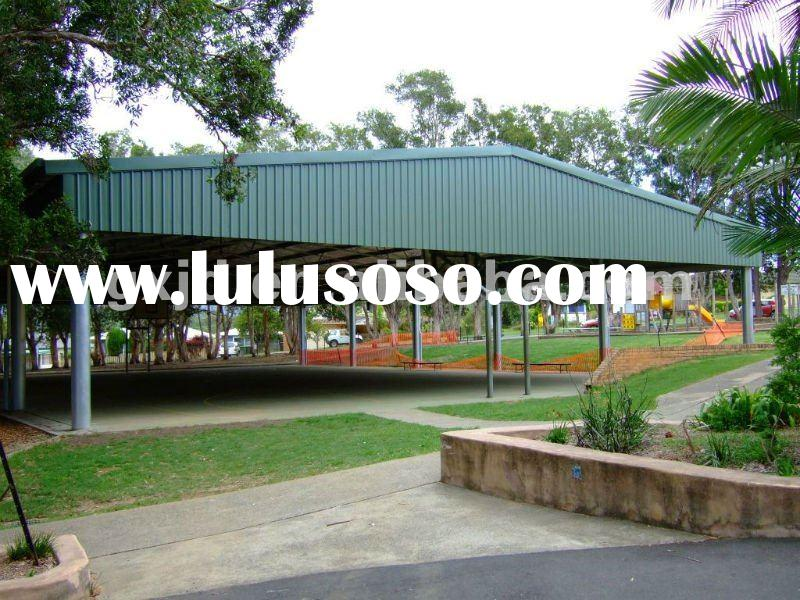 Truss system & color coated steel sheet roof material for Indoor basketball playground