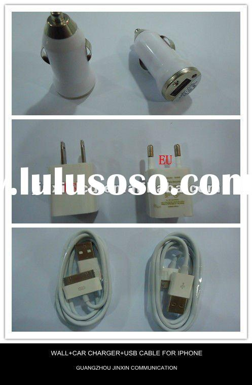 USB AC Home Wall +Car Charger +Data Cable for iPod Touch iPhone 2G 3G 3GS 4 4S
