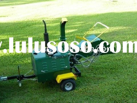 Wood chipper/shredder with 40HP CE certificate diesel engine, trailer mounted, Hydraulic feeding sys