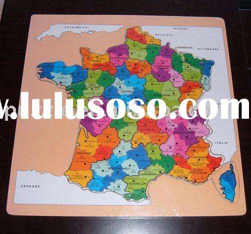 Wooden French Map Puzzle