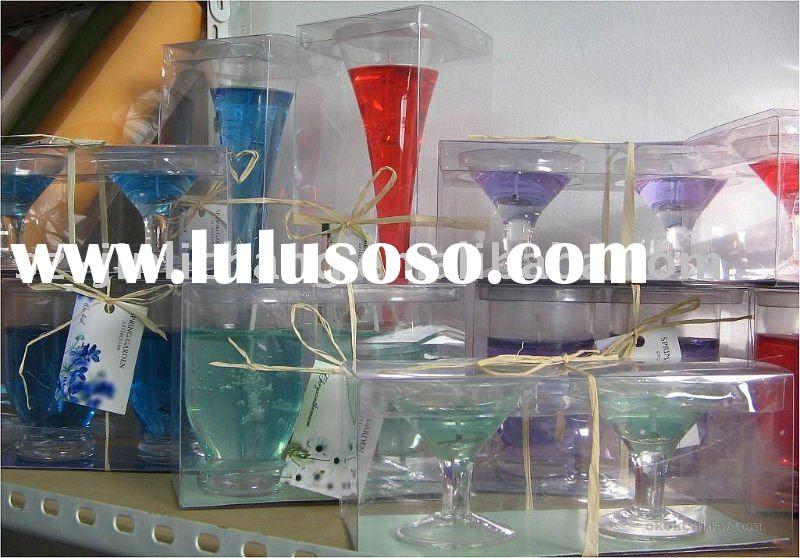 clear plastic gift boxes for glass cup