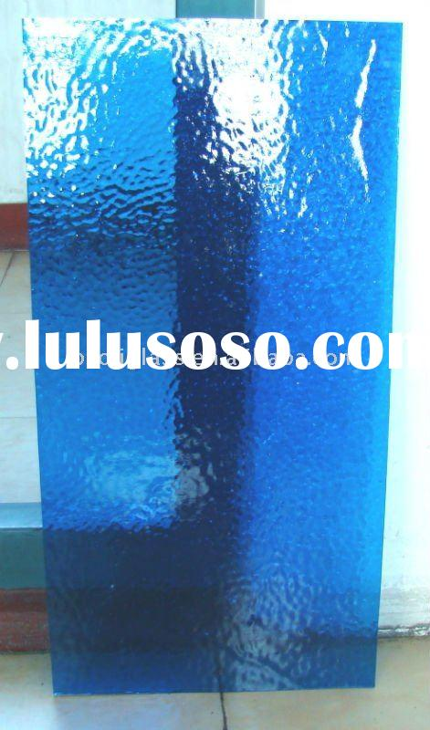 colored glass blue stained glass 3mm thickness