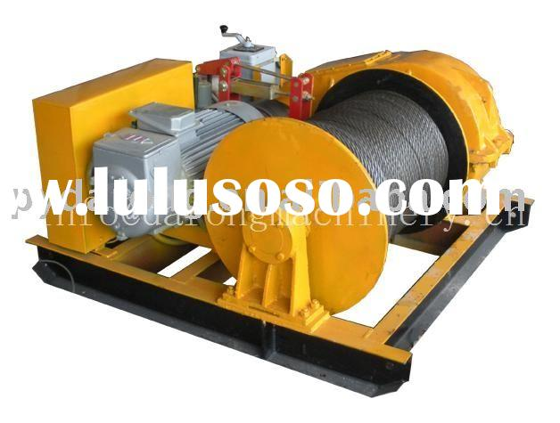 electric wire rope pulling ground winch (ground hoist)