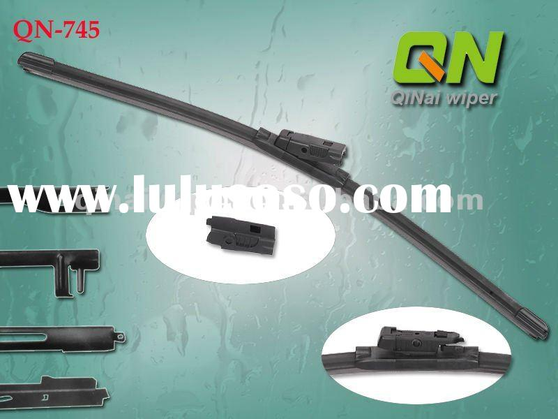 flat wiper blade with adaptor, areodynamic design, suitable almost all cars