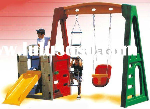 Toddler Playhouse With Slide. Plastic Indoor Slide Combined With ...