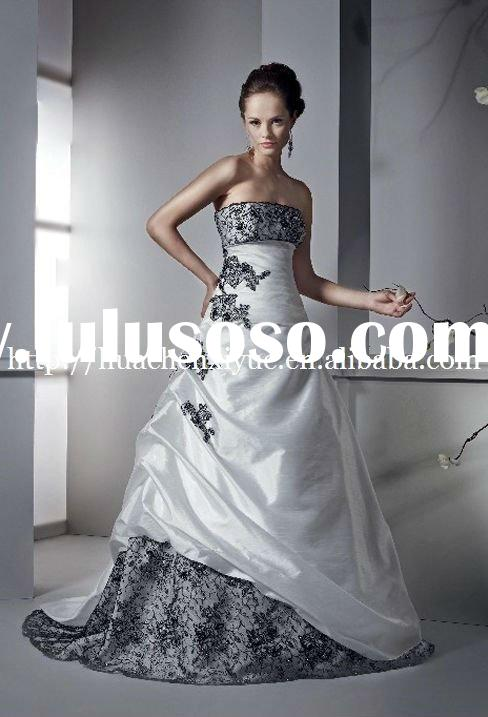 new arrival black lace backless wedding dress 2011