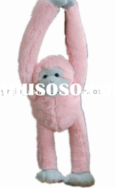 pink plush toy hanging monkey