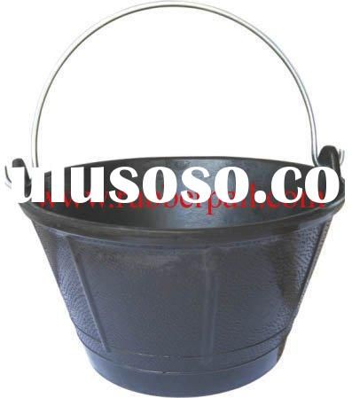 recycled rubber bucket,pail tank,construction bucket with handles