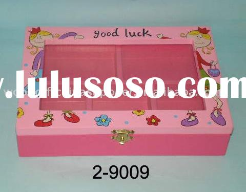 wooden small jewelry display case
