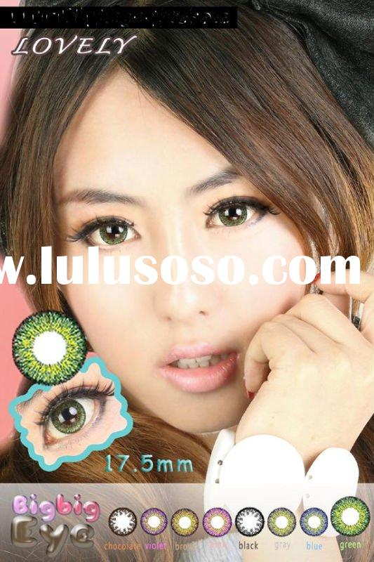 2011 BIGBIG EYE LOVELY 3tone /big size /17.5mm fasional/hot-sale/color contact lens/good quality /ma