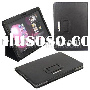 2011 New Black Folding Built-in Stand Leather Case for Samsung P7100 Galaxy Tab 10.1v