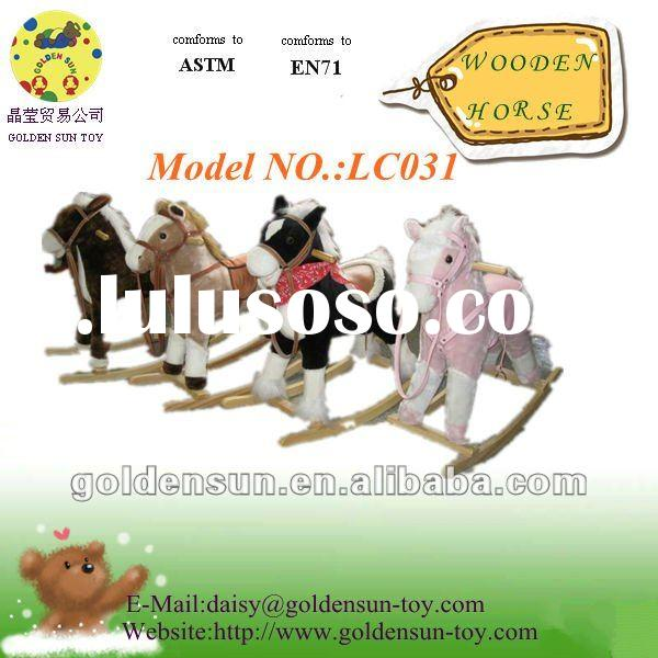 2012 High quality bouncing wooden horse toy