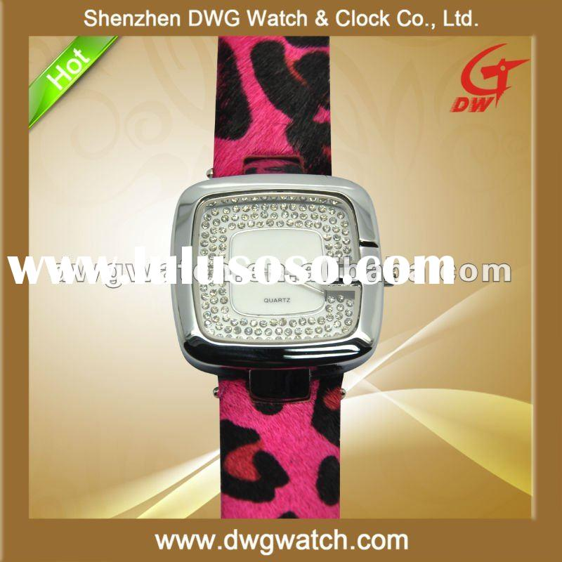 2012 New Luxury Watch with Japan Quartz Movt and Diamond Face DWG--L0260