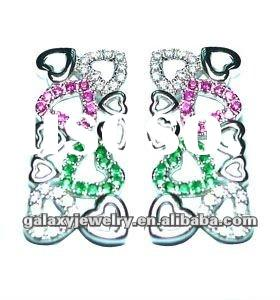 2012 fashion 925 sterling silver earring