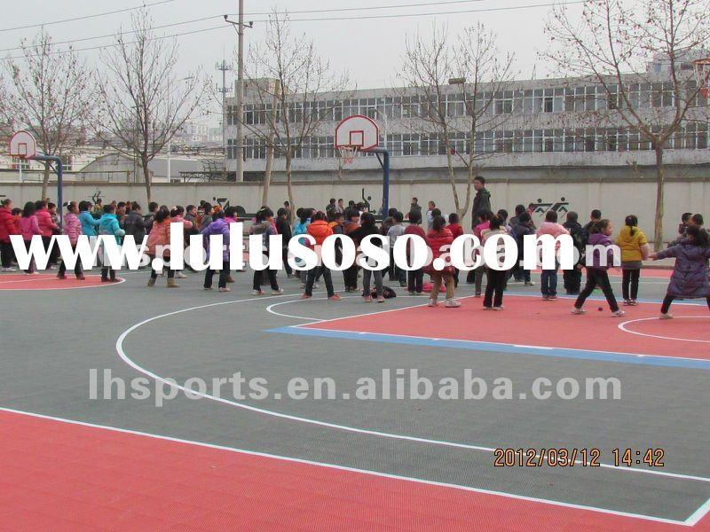 2012 hot sale at best quality colorful suspended modular interlocking basketball court floor for spo