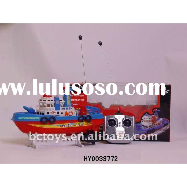 4 ch red fire rc ship,rc model boat,rc fishing boat with battery HY0033772