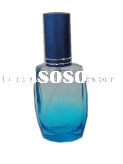 60ml blue glass perfume bottle perfume glass bottles wholesale cosmetic packaging spray pump bottles