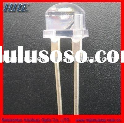 8mm 0.5w straw hat led diodes(3chips)
