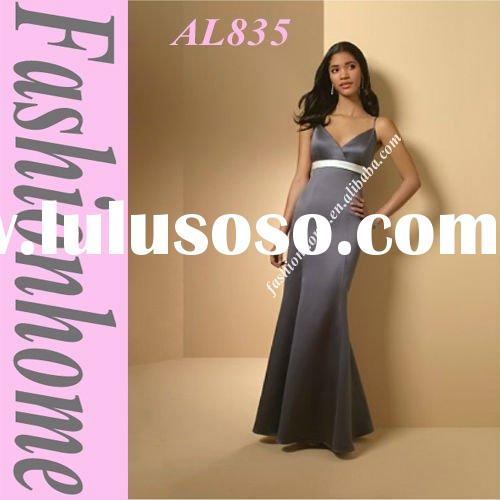 AL835 Free shipping Spaghetti Straps Floor length Mermaid Party Gown