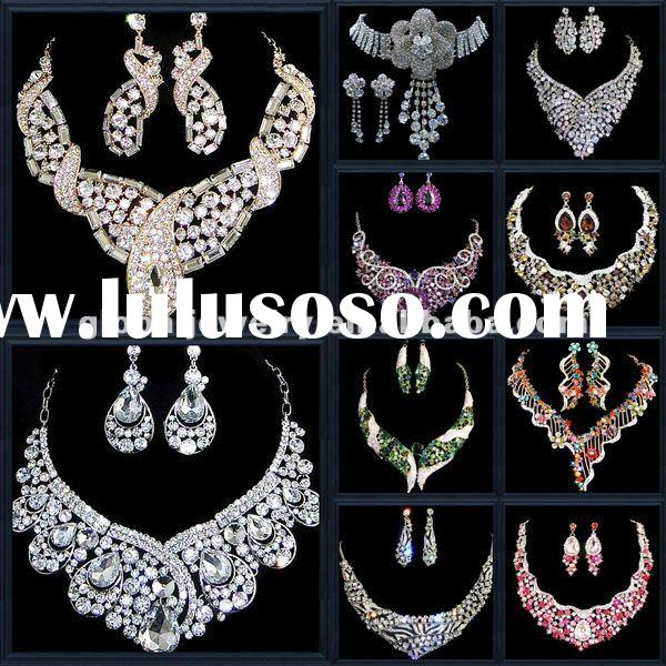 Bling & unique gold bridal costume jewelry sets
