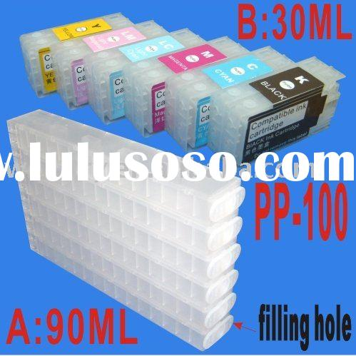 CISS/refillable ink cartridge for PP-100(PP100,(Epson Discproducer Disc Publisher,PJIC1-PJIC6,C13S02