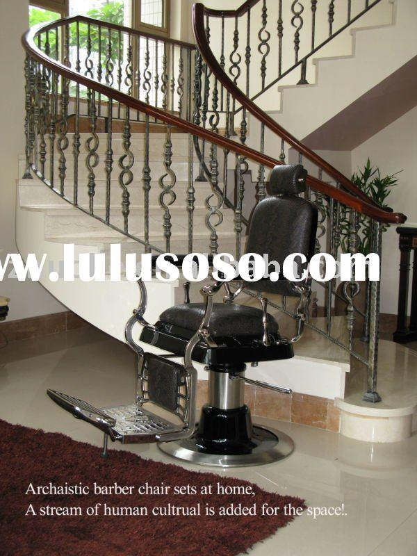 Classic stainless steel barber chair of salon furniture