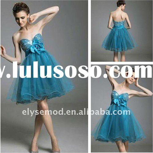 Clean and Fresh Looking Ball Gown Sweetheart Short Sequined Organza Ice Blue Homecoming Dress
