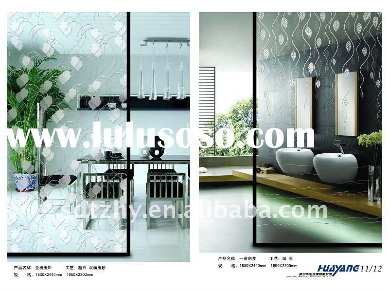 Deep acid etched Decorative Glass ( Partition Glass )