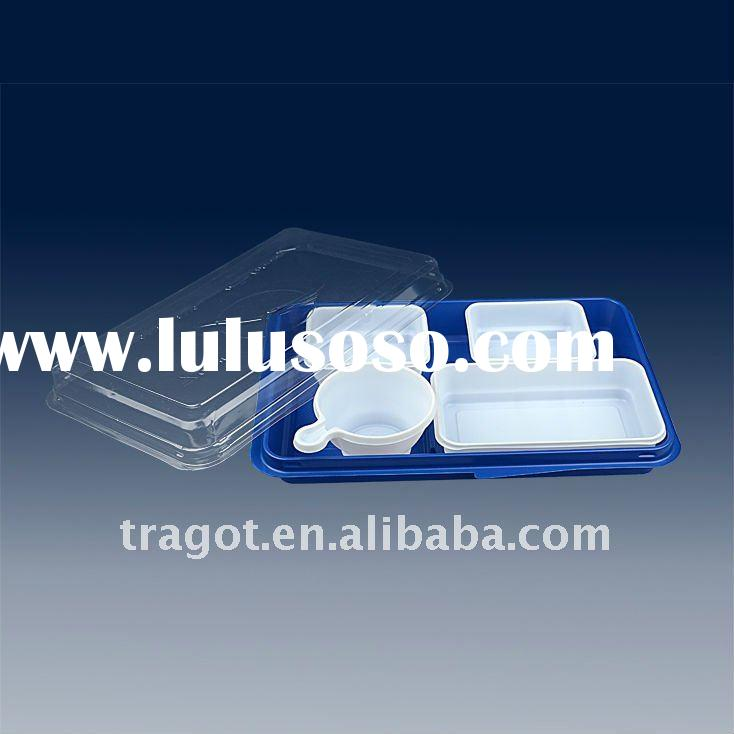 Disposable Plastic lunch box for airline