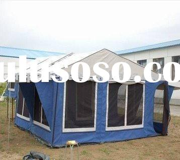 Double sunrooms big canvas camping trailer tent