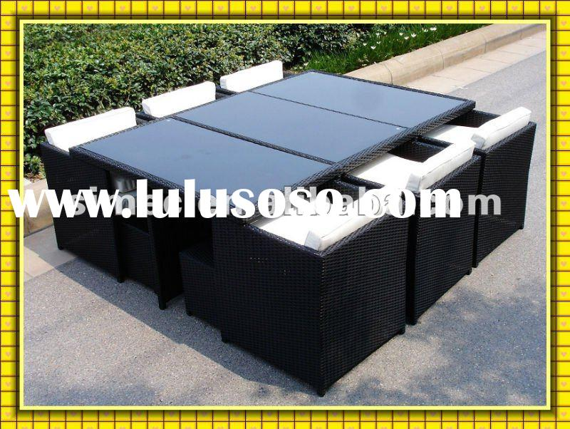 FACTORY hot sale low price wicker rattan outdoor furniture dining table and chairs sets for garden a
