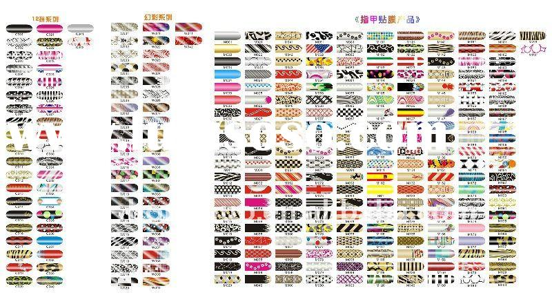 Funky colorful Nail Art Armour Foil Wraps Patch Series HN466