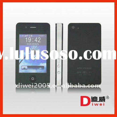 GPS wifi f073 quad band cell phone 3.2 inch touch screen dual sim 4gs shape