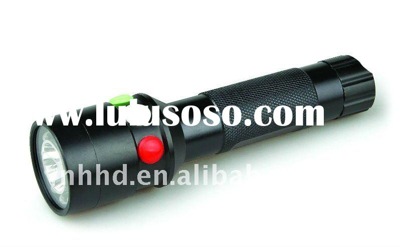 HDD-1082 colored LED signal High power Rechargeable Aluminium flashlight
