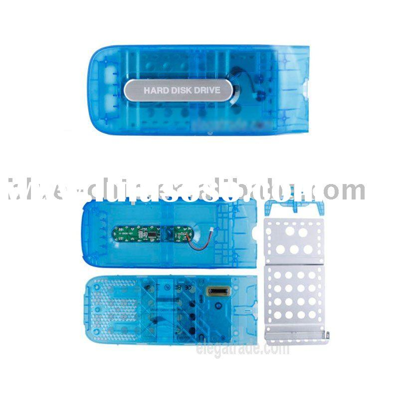 HDD Hard Disk Drive Case with LED Circuit Board for Xbox 360 (Translucent Blue)