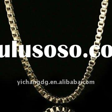 """HIP HOP 14K Yellow Gold Plated 40"""" Box Link Chain Chain"""