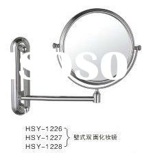 HSY-1228 Factory Direct metal magnifying double sided wall-mounted toilet mirror