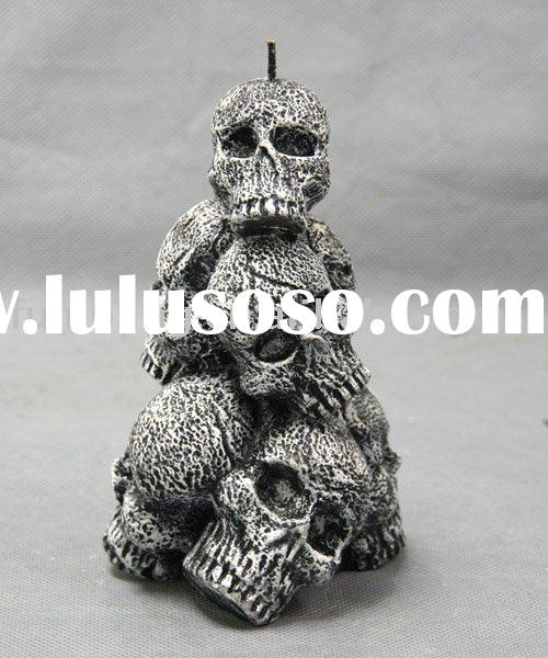 Halloween Skeleton Art Gift Candle (Holiday Adornment Candles)