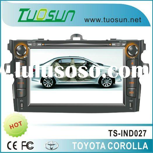 In-dash navigation dvd map for Toyota Carolla with 8-inch Color TFT Screen
