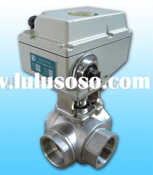 KLD1500 3-way motorised Ball Valve(stainless steel) for water treatment, process control, industrial