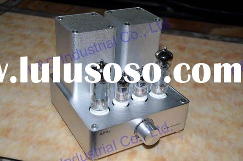 Mini Tube AMP HIFI Audio Amplifer (6J1+6P1)*2 Silver