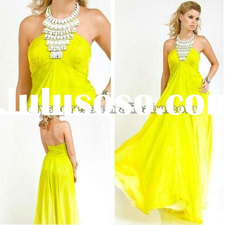Stunning Strapless Jovani Gown Stone Chiffon Collar Bodice Flowing Skirt lace prom dresses 2012